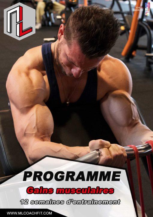 Couverture Programme gains musculaires